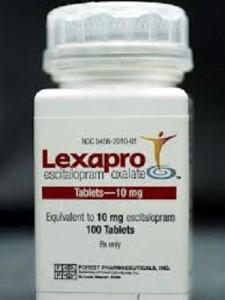 Lexapro pill bottle